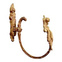 Antique French Bronze Doré Drapery Tie Back