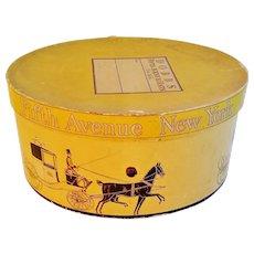 Vintage Oval Hat Box Dobbs Fifth Avenue