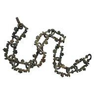 Rare Antique Sand Cast Long Decorative Iron Chain