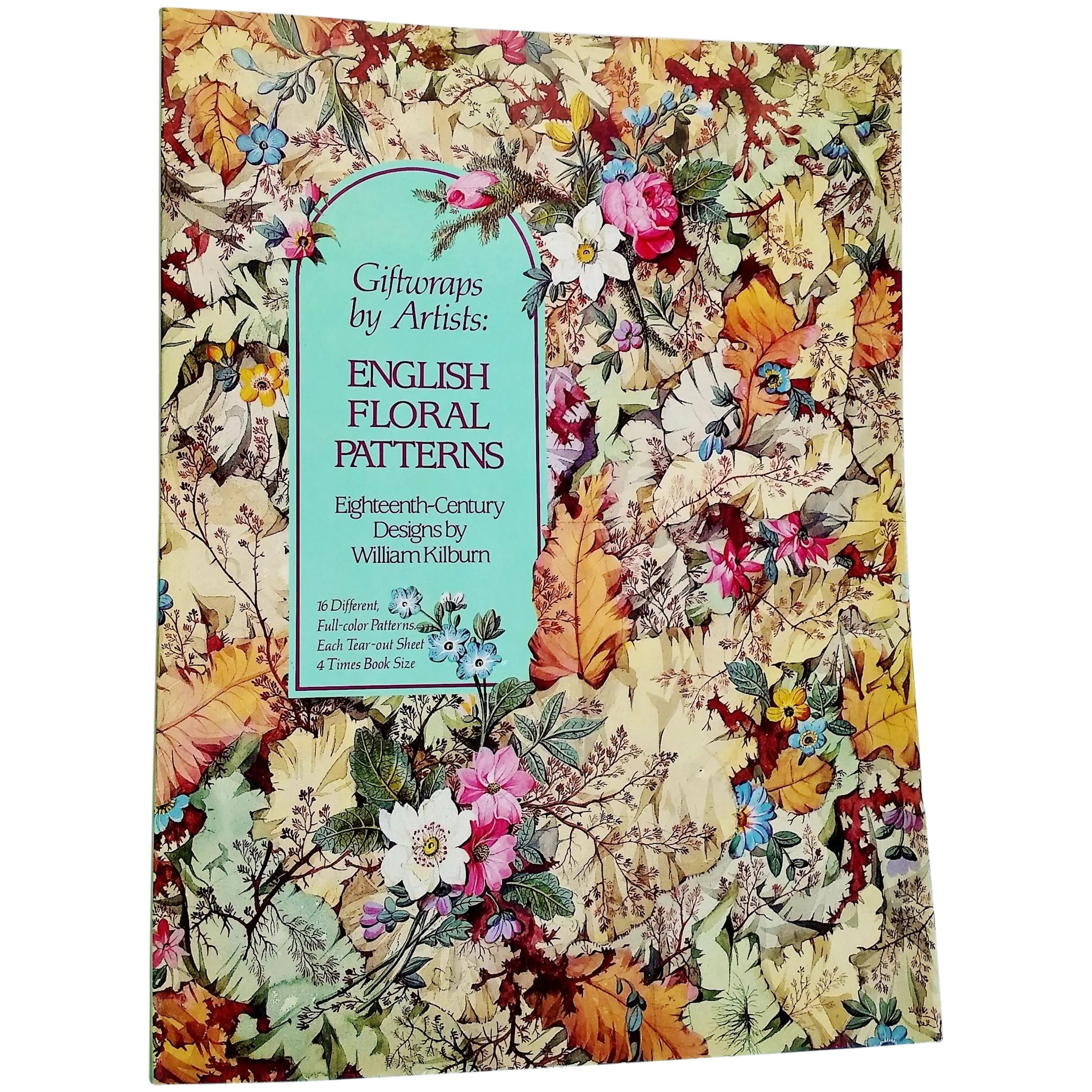 book of gift wrapping paper english 18th century floral designs by