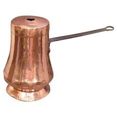 Antique Georgian Copper Chocolate Pot 18th Century