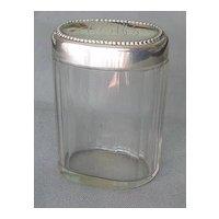 Sterling Silver Vanity Jar