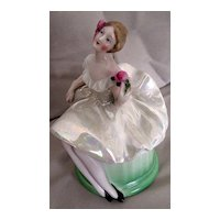 Bavaria Dresser Doll, Green Skirt, White Airy Top