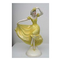 KATZHUTTE Porcelain  Dancing Lady Figure