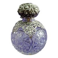 Crystal and Silver Perfume Bottle