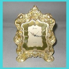 Gorham Sterling Clock with Sterling Silver Gilt