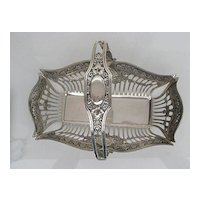800 Solid Sterling Ornate Basket with Adjustable Handle