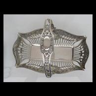 800 Solid Sterling Ornate Basket with Adjustable Handle