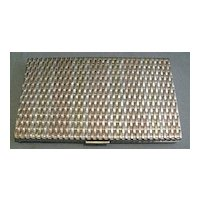 Sterling Silver Tri Color Cigarette Case