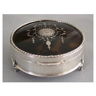 English Hallmarked Sterling Jewelry Box