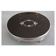English Hallmarked Sterling Silver Jewelry Box