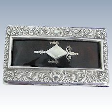 English Sterling Silver Matchbox