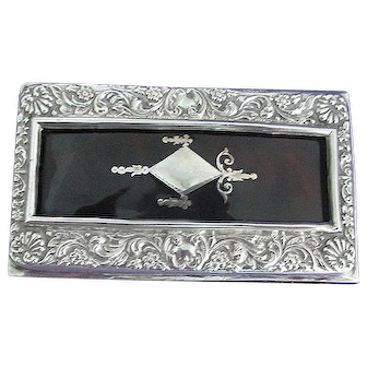 English Sterling Silver Matchbox