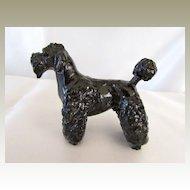 Lovely Vintage Composition Black Poodle Dog