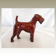 Handsome Vintage Airedale Dog Statue