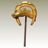 Antique Horse Head Gold Filled Stickpin