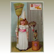 Large Trade Card Baking w/Girl and Pug