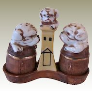 Vintage Bulldog Salt & Pepper Shaker Set