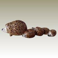 Vintage Goebel Hedgehog Family