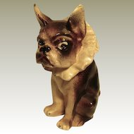 French Bulldog/Boston Terrier w/Ruffle Collar Vintage