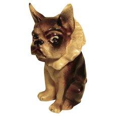 French Bulldog/Boston Terrier w/Ruffle Collar Vintage