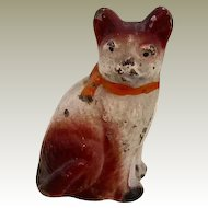 Vintage Dollhouse Painted Cat Potmetal