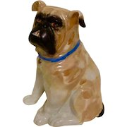 Germany Lustreware Sitting Bulldog Vintage Souvenir