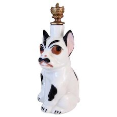 Super Rare Crown Top Perfume French Bulldog/Boston Terrier C. 1930s