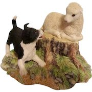 Vintage Border Collie And Sheep/Lamb By Border Fine Arts