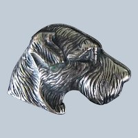 Vintage 800 Silver Fox Terrier Brooch/Pin