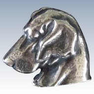 800 Silver Vintage Blood Hound Brooch/Pin