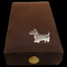 Vintage Travel Sewing Box w/Scotty Dog Decoration