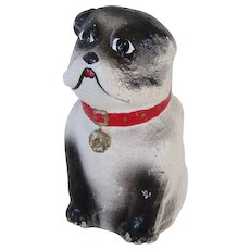 Unusual  Cast Iron Bulldog Paperweight Vintage