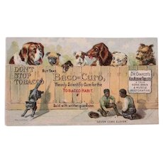 Victorian Trade Card With Dogs And Black Americana