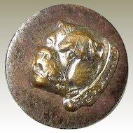 Antique Brass on Steel Bulldog Button