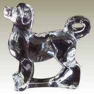 Retired Baccarat Crystal Zodiac Akita Dog