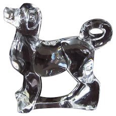 Retired Baccarat Crystal Zodiac Akita Dog