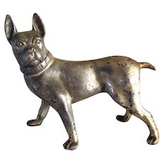 Handsome Antique French Bulldog Silver Plated
