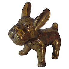 Vintage Animated Brass French Bulldog
