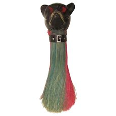 Celluloid French Bulldog/Boston Terrier Vintage Clothes Brush