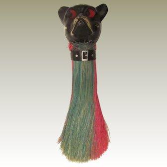 Celluloid French Bulldog/Boston Terrier Vintage Clothes Brush