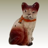 Antique Painted Metal Dollhouse Cat