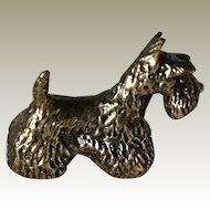 Lost Wax Bronze Signed Scotty Dog Miniature