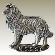 Vintage Sterling Silver Collie/Shetland Sheep Dog Pin
