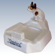 Antique Porcelain Advertising Standard Plumbing French Bulldog Dog