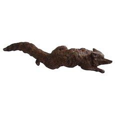 Miniature Bronze Fox Vintage Vienna Bronze Vintage