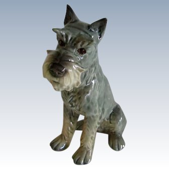 Goebel Schnauzer Dog W. Germany Vintage 4 1/2 Inches