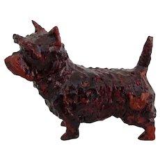 Miniature Vintage Cairn Terrier Dog OAK