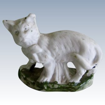 Early Staffordshire Cat Antique Fairing
