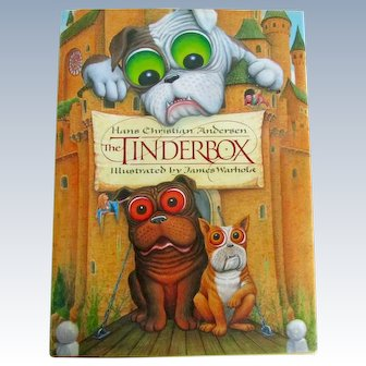 Tinderbox Story Book Illustrated With Bulldogs Dogs C.1991